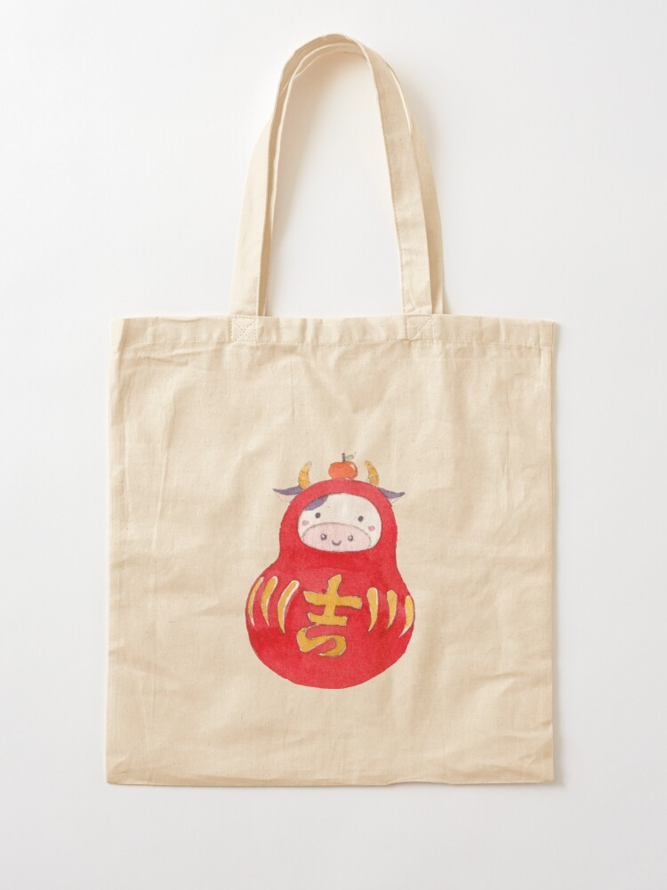 Alternate view of Lucky Cow Daruma Tote Bag