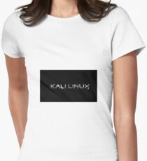 Kali Linux Faded No Dragon Women's Fitted T-Shirt