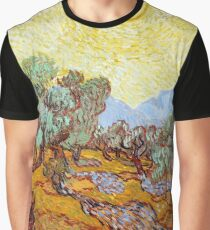 1889-Vincent van Gogh-Olive Trees with yellow sky and sun-73,66x92,71 Graphic T-Shirt