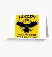 Lawgirl Greeting Card