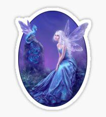Luminescent Fairy & Dragon Art Sticker