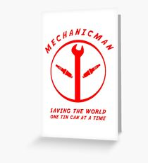 Mechanicman Greeting Card
