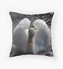 Swan on the lake Throw Pillow
