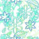 Blue flowers digital by RosiLorz