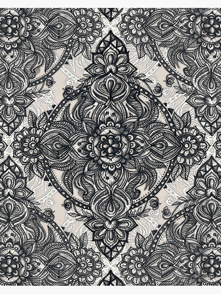 Charcoal Lace Pencil Doodle by micklyn