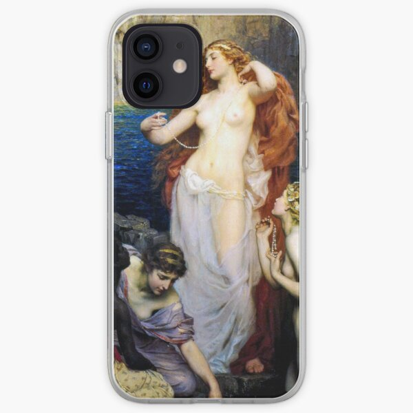 The Pearls Of Aphrodite – (Herbert James Draper)  Герберт Дрейпер - Жемчуг Афродиты iPhone Soft Case