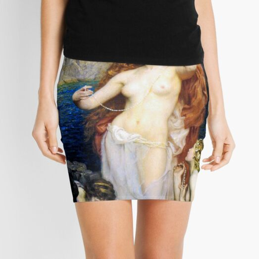 The Pearls Of Aphrodite – (Herbert James Draper)  Герберт Дрейпер - Жемчуг Афродиты Mini Skirt
