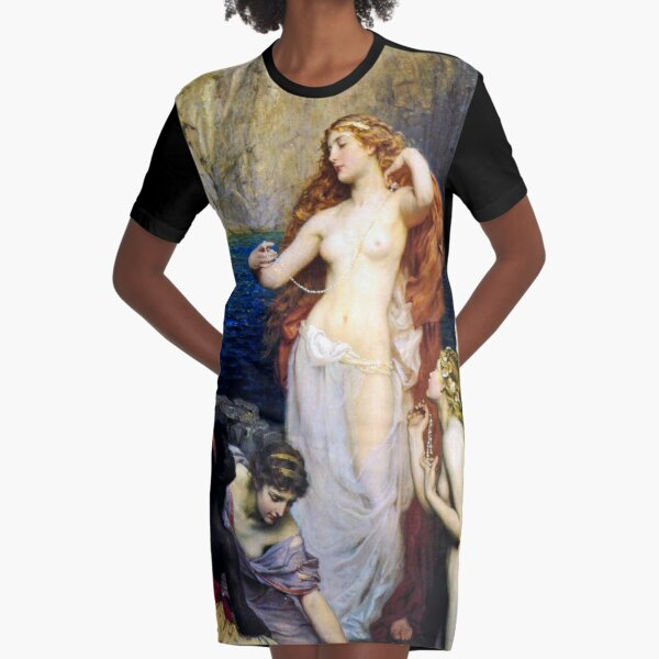 The Pearls Of Aphrodite – (Herbert James Draper)  Герберт Дрейпер - Жемчуг Афродиты Graphic T-Shirt Dress