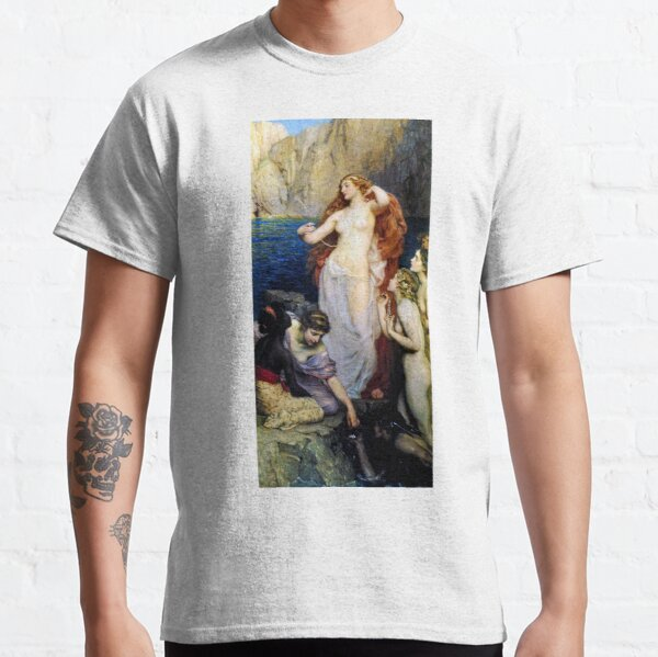 The Pearls Of Aphrodite – (Herbert James Draper)  Герберт Дрейпер - Жемчуг Афродиты Classic T-Shirt