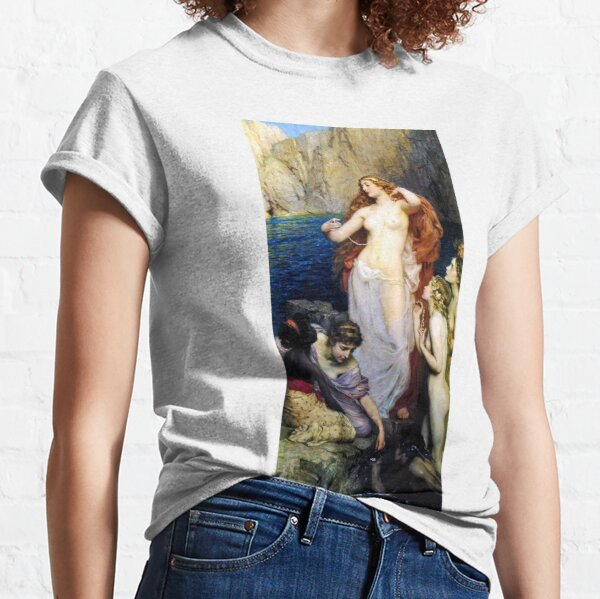 The Pearls Of Aphrodite – (Herbert James Draper) Classic T-Shirt