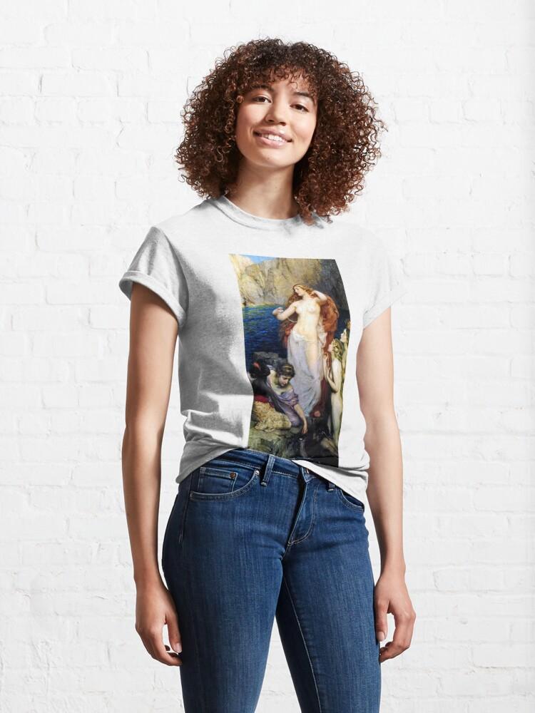 Alternate view of The Pearls Of Aphrodite – (Herbert James Draper)  Герберт Дрейпер - Жемчуг Афродиты Classic T-Shirt