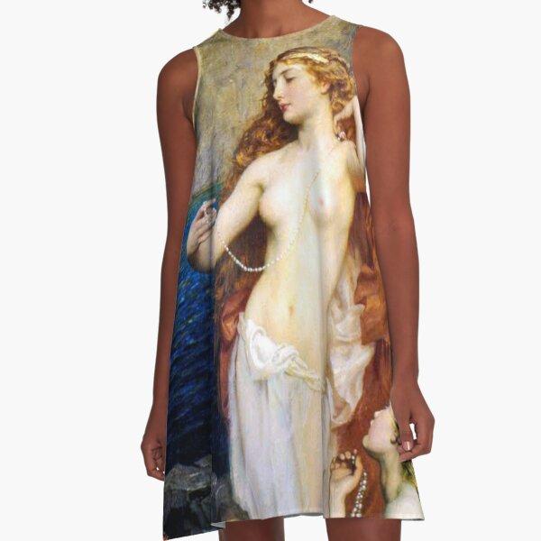 The Pearls Of Aphrodite – (Herbert James Draper)  Герберт Дрейпер - Жемчуг Афродиты A-Line Dress