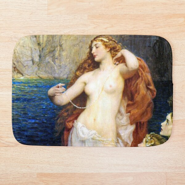 The Pearls Of Aphrodite – (Herbert James Draper) Bath Mat