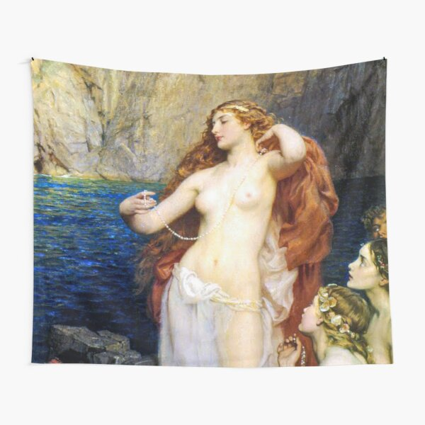 The Pearls Of Aphrodite – (Herbert James Draper)  Герберт Дрейпер - Жемчуг Афродиты Tapestry