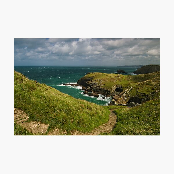 Path down to Tintagel in Cornwall Photographic Print