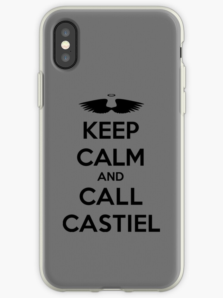 sale retailer aefe2 dd8ce 'KEEP CALM - Keep Calm and Call Castiel // Supernatural SPN' iPhone Case by  hocapontas