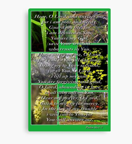 psalm 86:1-7 collage Canvas Print