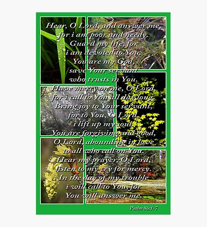psalm 86:1-7 collage Photographic Print