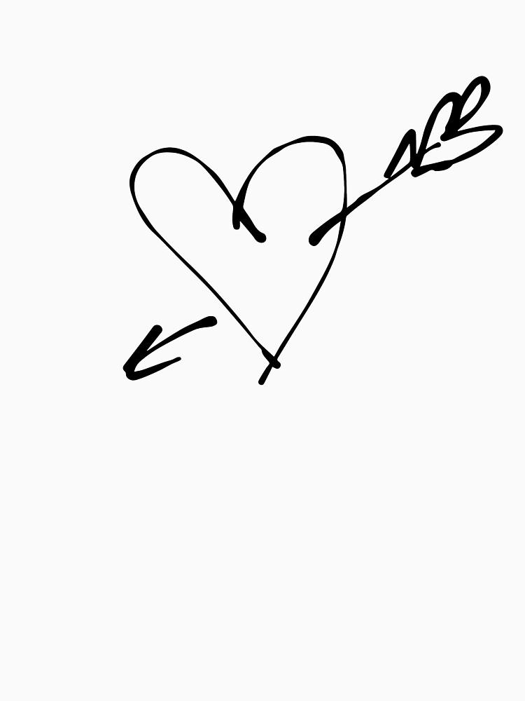 Pierced heart, ink by syrykh