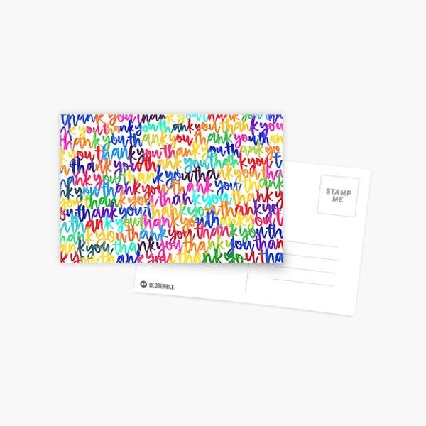 Rainbow thank you cards Postcard