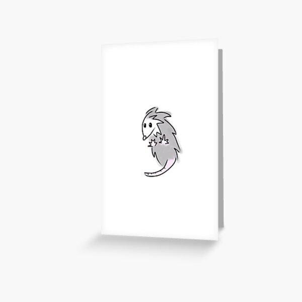 Possum with Jazz Hands Greeting Card