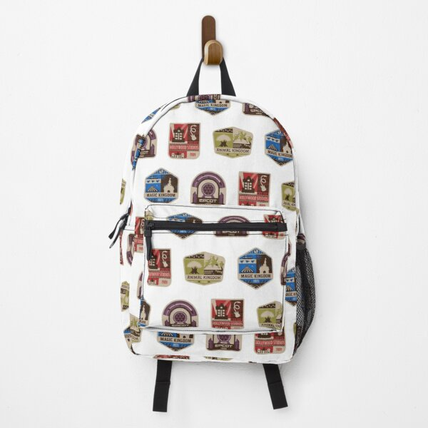 Magic Theme Park Inspired Badge Pattern Backpack
