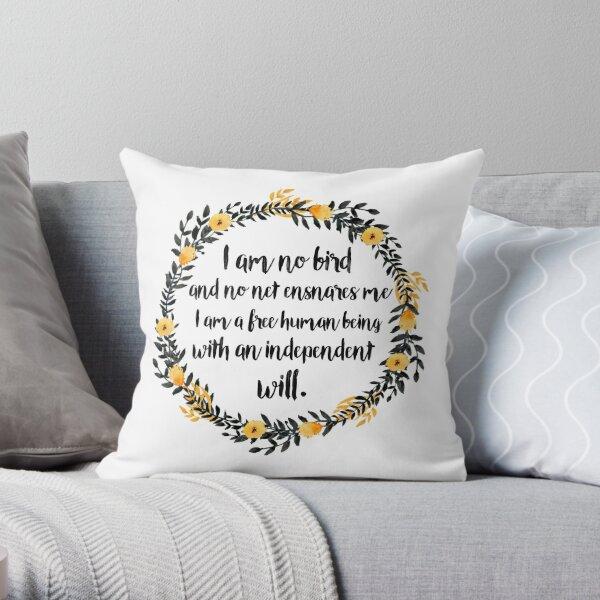 I am no bird; and no net ensnares me Throw Pillow