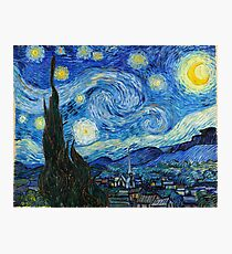 1889-Vincent van Gogh-The Starry Night-73x92 Photographic Print