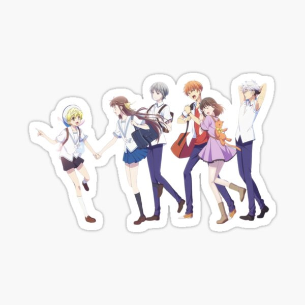 Gang de corbeilles de fruits Sticker