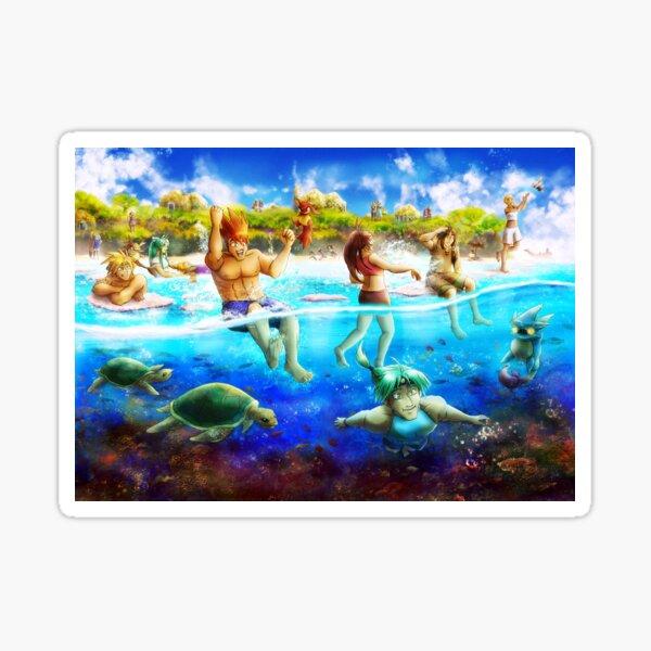 Golden Sun Beach - Reefs of Yallam  Sticker
