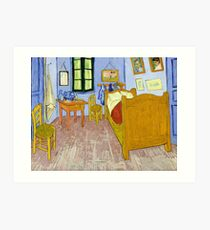 1889-Vincent van Gogh-Van Gogh's Bedroom in Arles-57x74 Art Print