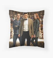 Doctor Who with Daleks Throw Pillow