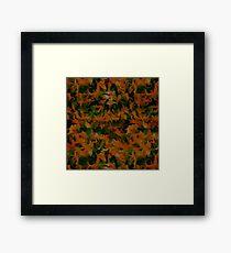 Abstract Tangerine Green Framed Print