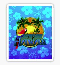 Hawaii Sunset Blue Honu Sticker