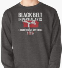 Black Belt In Partial Arts Pullover Sweatshirt