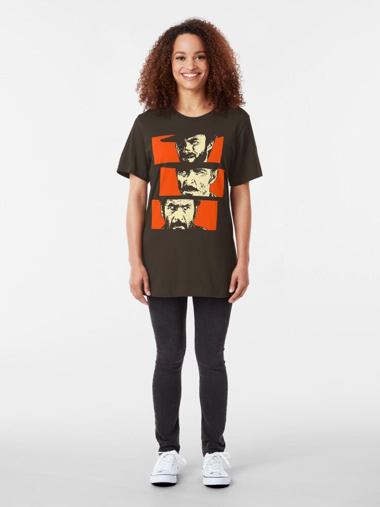 Alternate view of Blondie, Angel Eyes, Tuco Slim Fit T-Shirt