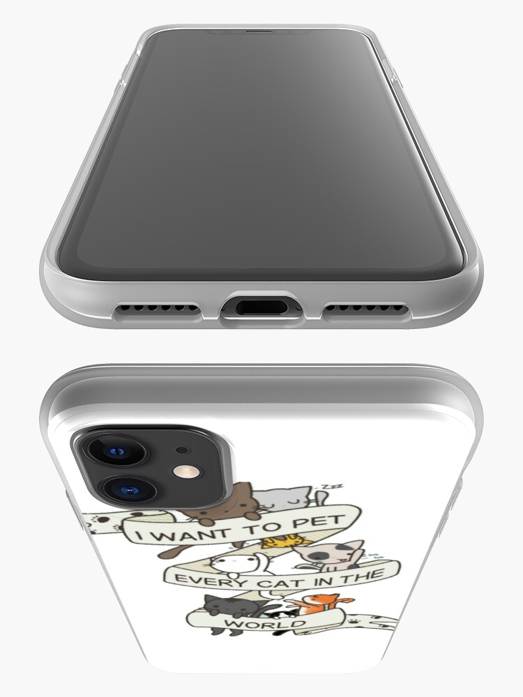 Alternate view of I want to pet every cat in the world! iPhone Case & Cover