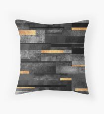 Urban Black & Gold Throw Pillow
