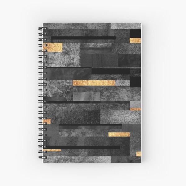 Urban Black & Gold Spiral Notebook