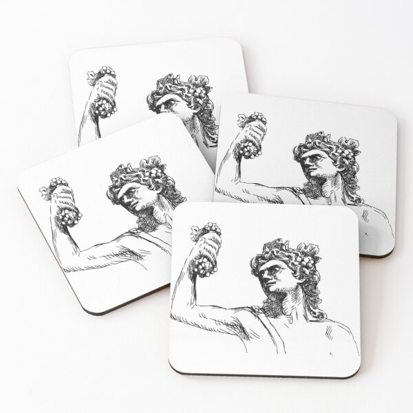 Theatre of Dionysus Drawing Coasters (Set of 4)
