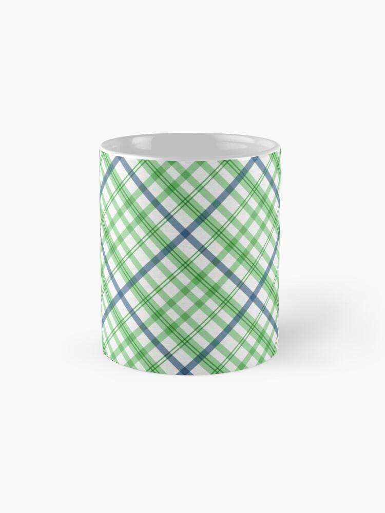 Alternate view of Green and Blue Plaid, Green and Blue Tartan Mug