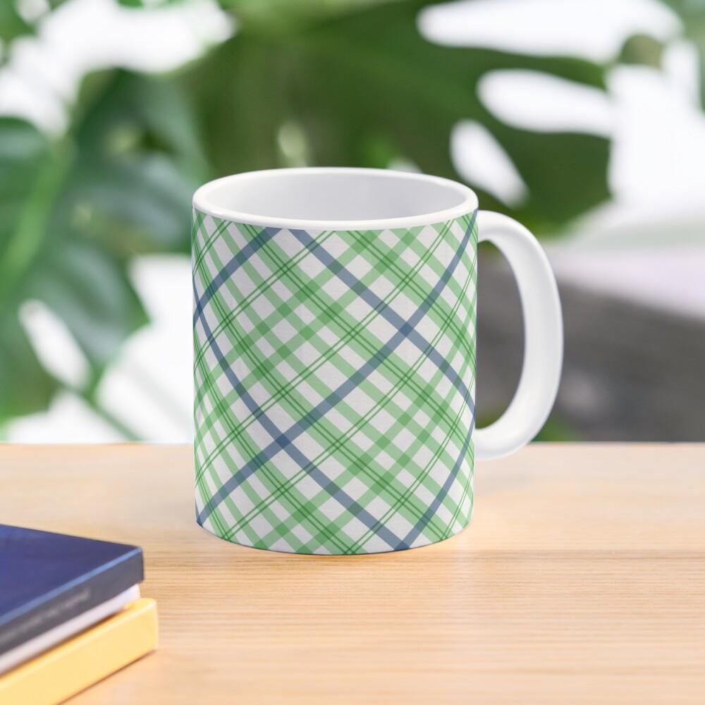 Green and Blue Plaid, Green and Blue Tartan Mug