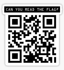 can you read the flag? Sticker