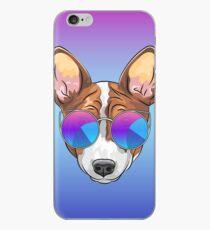 Hipster smiling dog Basenji  iPhone Case