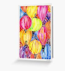 Vietnamese Rainbow Lanterns Greeting Card