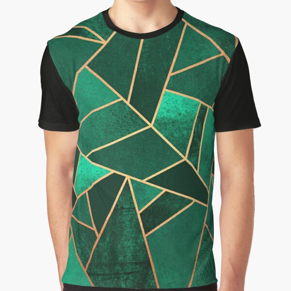 Emerald and Copper Graphic T-Shirt