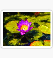 Vivacious Waterlily Impression Sticker