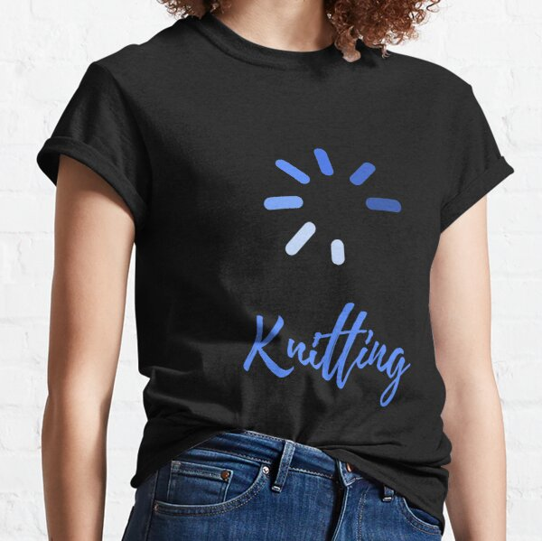 I Love Knitting Heart Design Quote  Classic T-Shirt