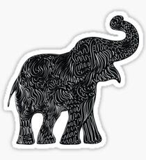 Pegatina Elefante