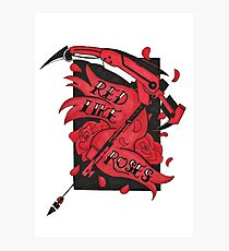 Red Like Roses  Photographic Print